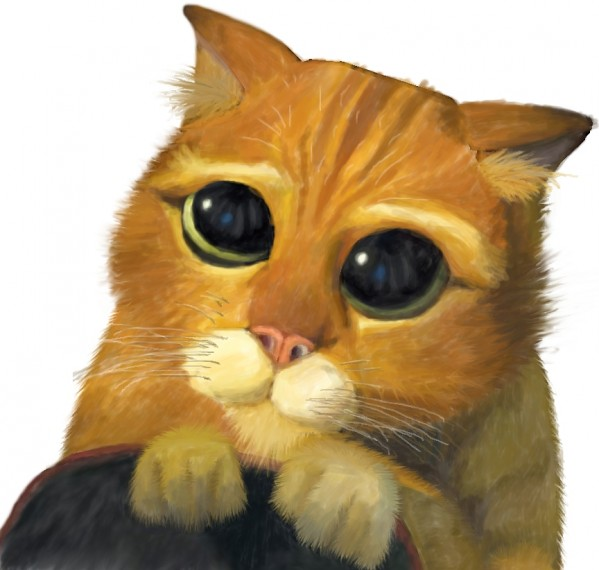 puss in boots sad face